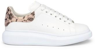 Alexander McQueen Oversized Python-Embossed Leather Flatform Sneakers