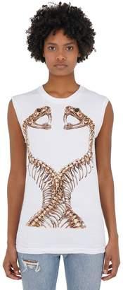 Dom Rebel Snakes Sleeveless Cotton Jersey T-Shirt