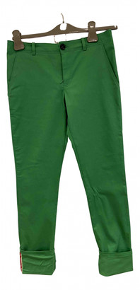 Gucci Green Cotton Trousers