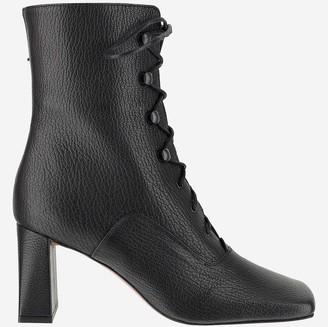 BY FAR Black And Grey Ankle Boots