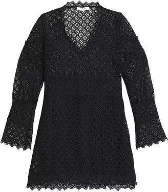 IRO Guipure Lace Mini Dress