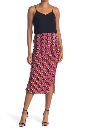 Diane von Furstenberg Edna Floral Midi Skirt