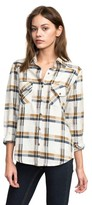 RVCA Women's Plaid Flannel Shirt