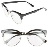 BP Women's 55Mm Clear Sunglasses - Black Clear