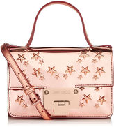 Jimmy Choo REBEL SOFT MINI Tea Rose Mirror Coated Fabric with Stars Mini Cross Body Bag