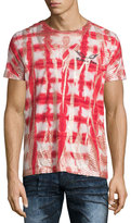 Robin's Jeans Coated Tie-Dye Short-Sleeve T-Shirt, Red