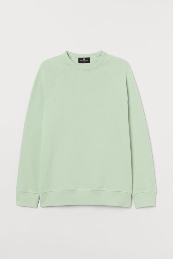 H&M Regular Fit Sweatshirt - Green
