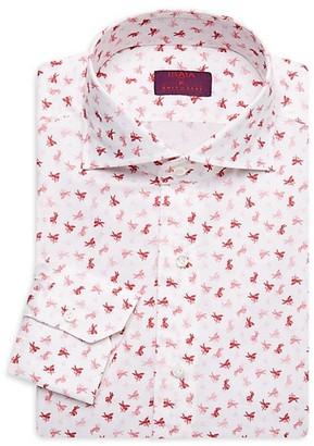 Isaia Cupid Print Dress Shirt