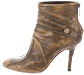 Christian Dior Distressed Ankle Boots