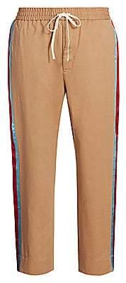 Gucci Men's Military Side Stripe Drill Pants