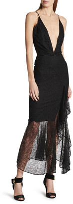Tom Ford Lace Deep-V Gown