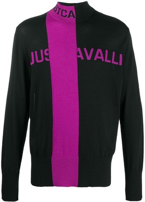 Just Cavalli Stripe Detail Long Sleeve Jumper