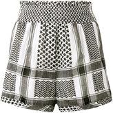 Cecilie Copenhagen - keffiyeh high waisted shorts - women - Cotton - 1