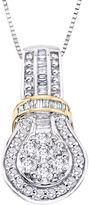 JCPenney FINE JEWELRY diamond blossom 5/8 CT. T.W. Diamond 10K Two-Tone Gold Pendant Necklace