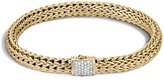 John Hardy Women's Classic Chain 6.5MM Bracelet in 18K Gold with Diamonds