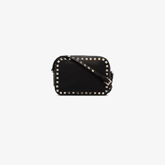 Valentino black Garavani Rockstud leather camera bag