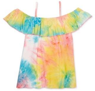 Dreamstar Girls 4-16 Tie Dye Cold Shoulder Top