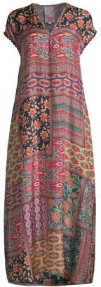 Johnny Was Odelia Printed Silk Dress