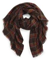 Sole Society Women's Lightweight Plaid Scarf