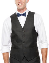 Izod Gray Sharkskin Suit Vest - Classic Fit