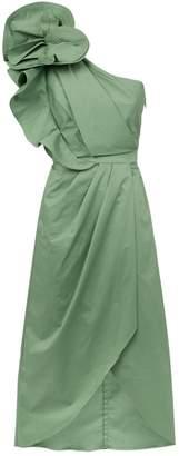 Johanna Ortiz Ruffle Midi Dress