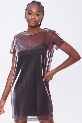 Forever 21 Metallic T-Shirt Dress