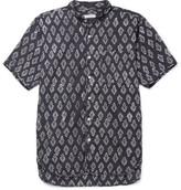 Engineered Garments Grandad-Collar Printed Cotton-Voile Shirt