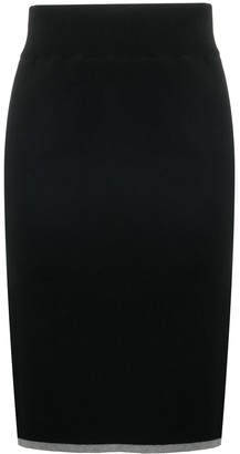 See by Chloe Contrast-Trim Knitted Skirt