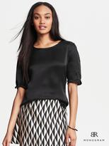 Banana Republic BR Monogram Silk Boatneck Top