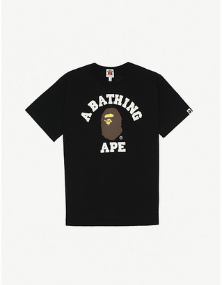 A Bathing Ape College logo-printed cotton T-shirt 9-10 years