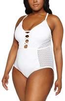 New Look Women's Curves Crochet Swimsuit