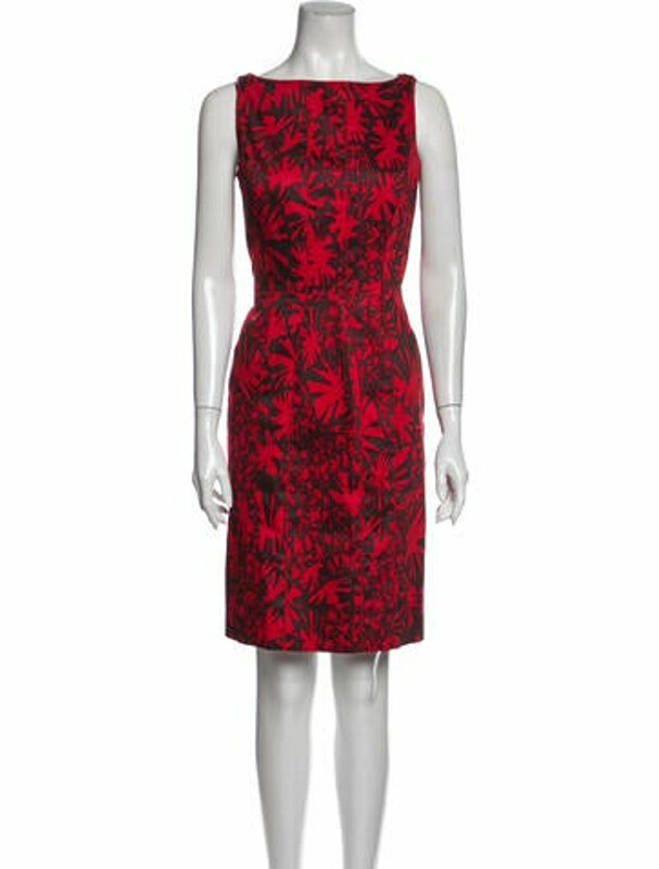 Thumbnail for your product : Oscar de la Renta 2008 Knee-Length Dress Red