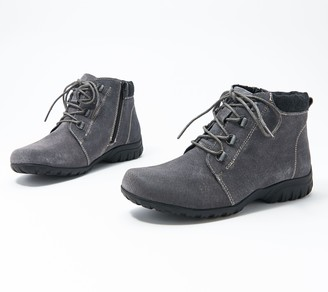 Propet Leather Lace-Up Ankle Boot - Delaney