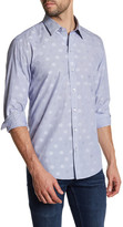 Zachary Prell Horwitz Polka Dot Stripe Woven Trim Fit Shirt