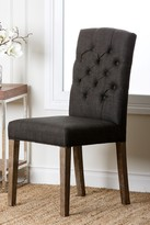 Grey Linen Tufted Dining Chair