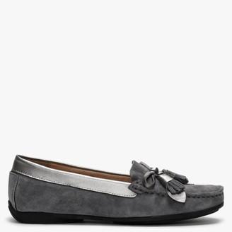 Df By Daniel Ipliss Grey Suede Tassel Loafers