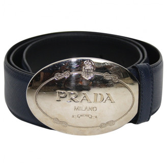 Prada Navy Leather Belts