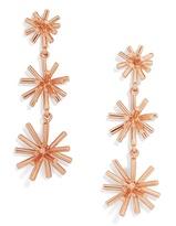 BaubleBar Morningstar Drop Earrings-Rose Gold