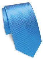 Saint Laurent Textured Solid Silk Tie