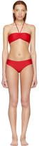 Gucci Red 'Loved' Bandeau Bikini