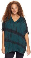 Rock & Republic Plus Size Tie-Dye Poncho Top