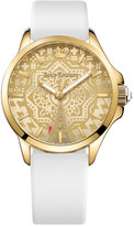 Juicy Couture Women's Jetsetter White Silicone Strap Watch 38mm 1901390