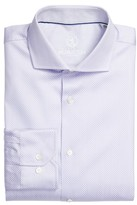 Bugatchi Men's Trim Fit Dot Jacquard Dress Shirt