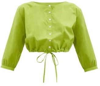 Le Sirenuse, Positano - Jinny Cotton-voile Crop Top - Green