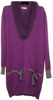 Blumarine Purple Wool Coat for Women