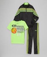 CB Sports Neon Lime Tracksuit Set - Infant Toddler & Boys