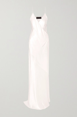 Michael Lo Sordo Silk-satin Gown - White