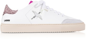Axel Arigato Clean 90 Triple Bird White, Pink Glitter & Fuchsia Leather Women's Sneakers