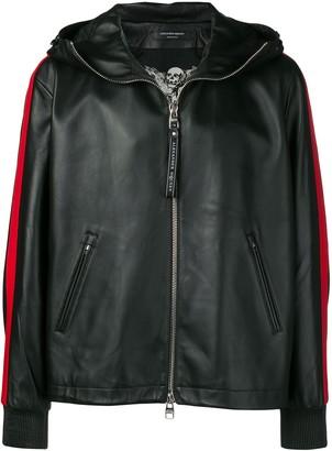 Alexander McQueen leather hooded jacket