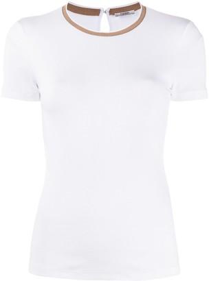Peserico ribbed crew neck T-shirt